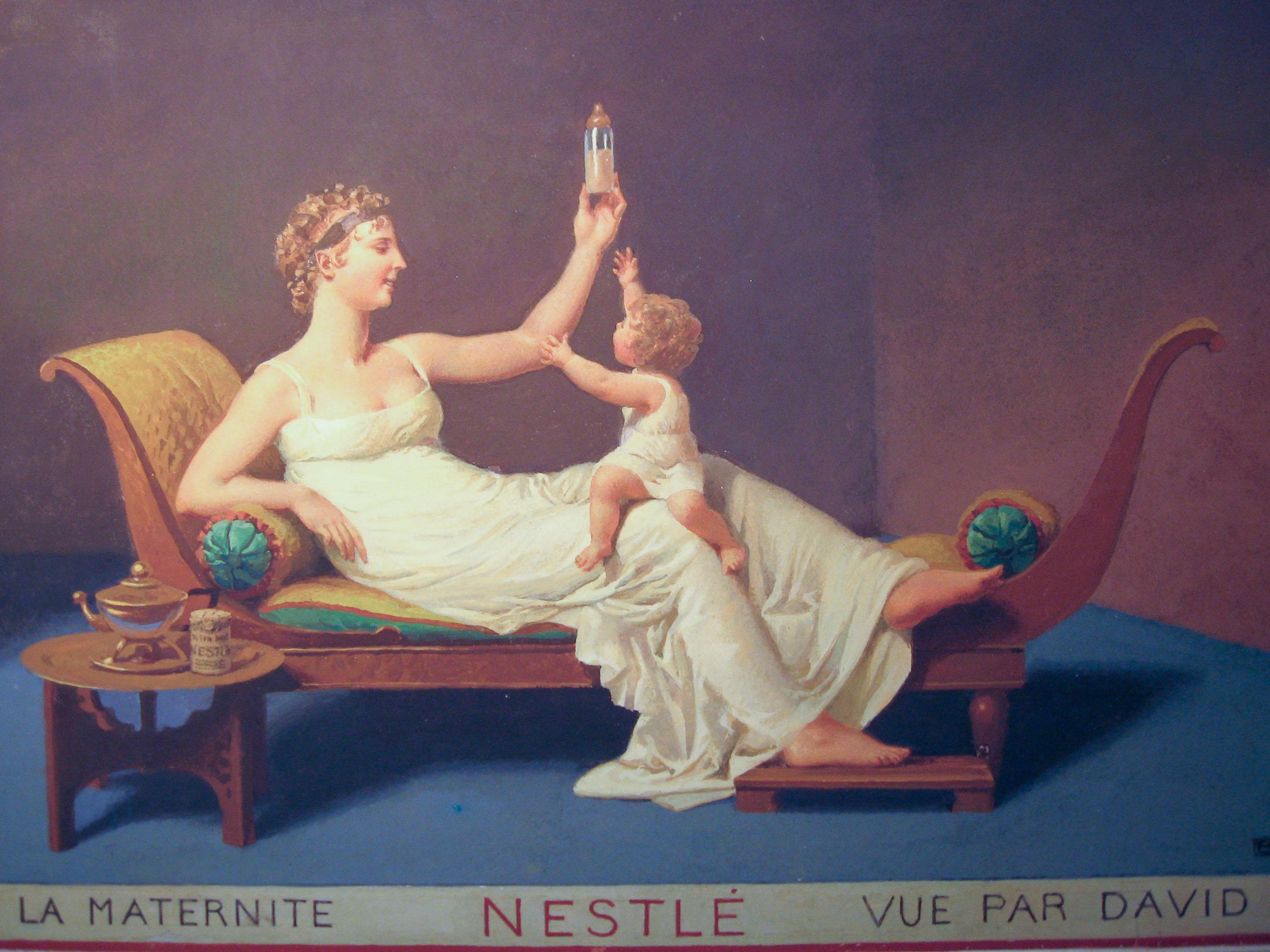 Maternité Nestlé à la manière de David (Louis Rivier, 1934)
