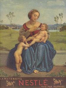 Maternité Nestlé à la manière de Raphael (Louis Rivier, 1934)