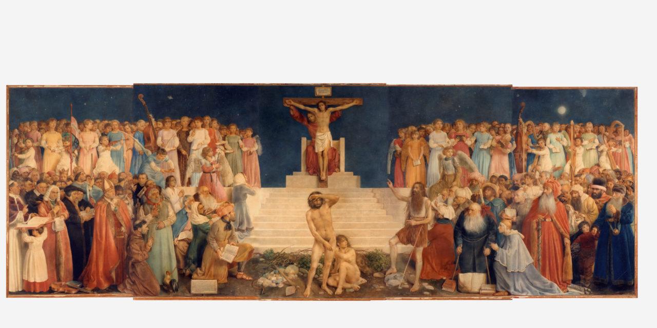 Un tableau géant de Louis Rivier installé au Temple d'Yverdon